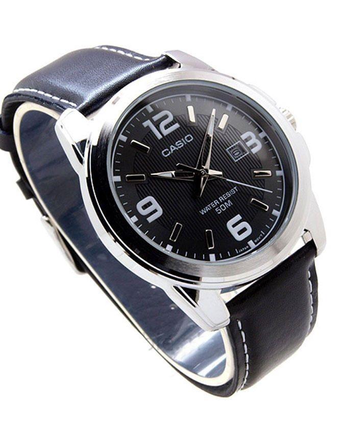 harga Jam tangan pria casio original analog strap kulit casio mtp-1314l-8a Tokopedia.com