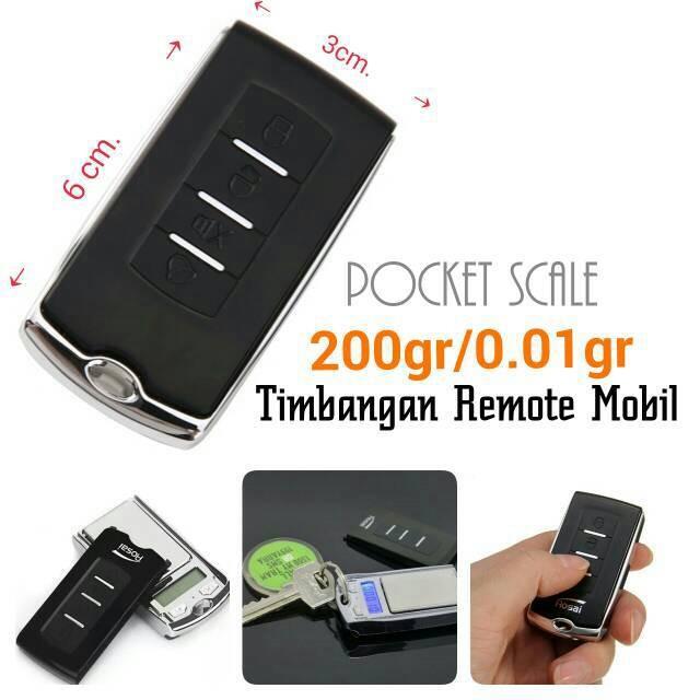 Pocket Scale 100gr/0.01gr Timbangan Saku Digital Unik Remote Mobil