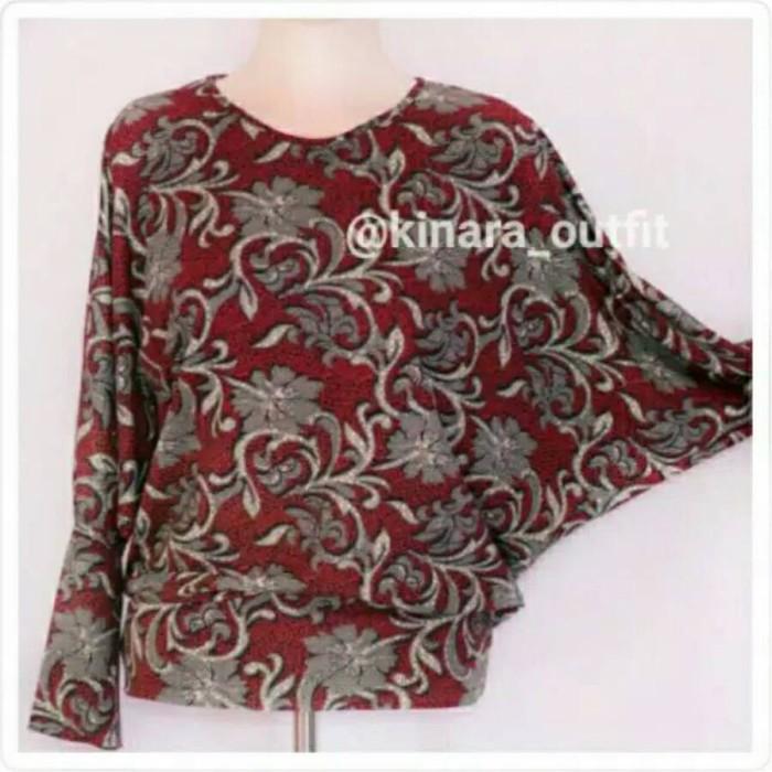 harga Atasan Batwing Model Kalong Motif Redbatik/blouse Wanita/baju Tokopedia.com