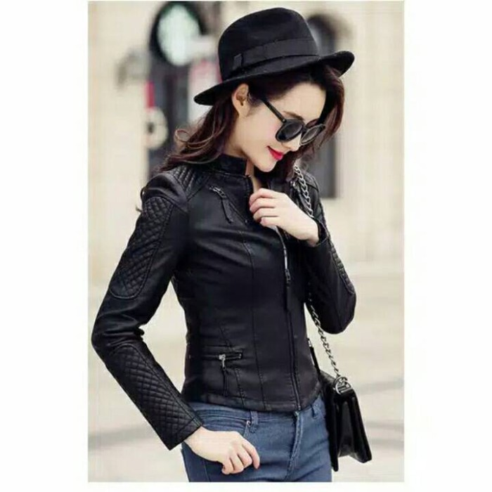 Jual jaket kulit wanita korea style ( jaket semi kulit wanita 067094abb9