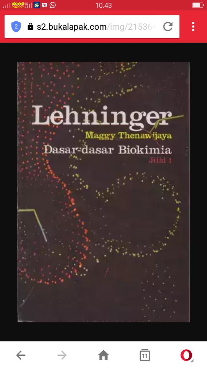 harga Lehninger dasar-dasar biokimia jilid 1 Tokopedia.com
