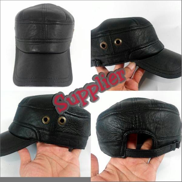 topi kulit asli 100% full kulit asli