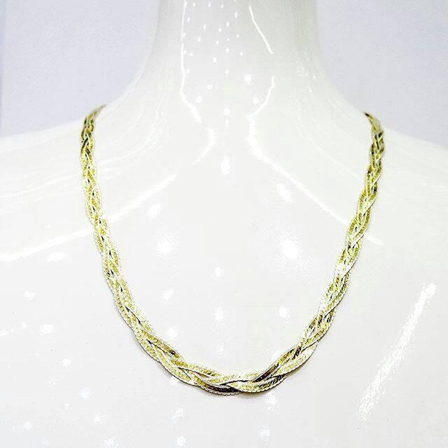 harga Kalung rantai perak / silver 925 lapis emas kuning asli original Tokopedia.com