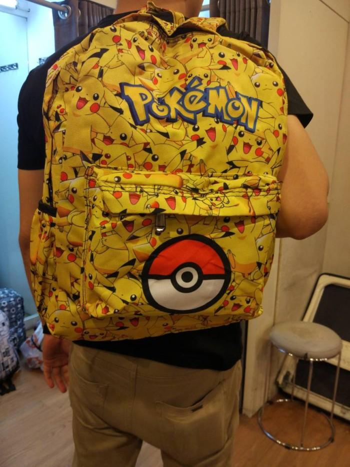 Jual tas ransel pokemon go import / tas anak sekolah