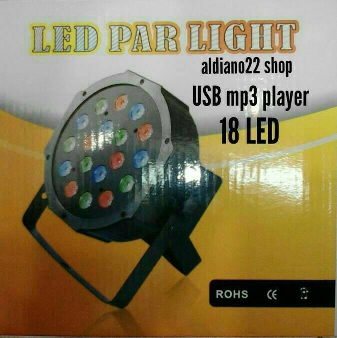 harga Lampu sorot panggung disco/ par led 18 led mp3 player Tokopedia.com