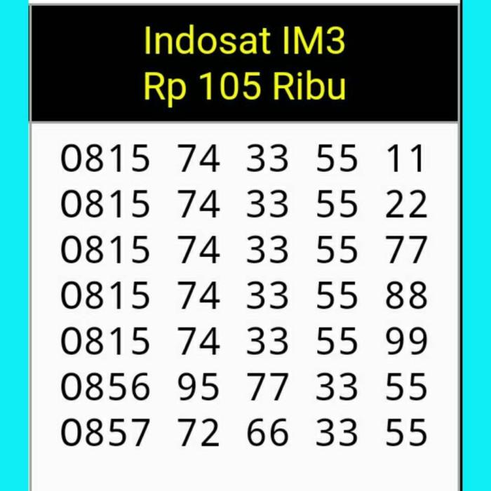 Nomor Cantik Indosat im3 seri terbaru triple Aa super mudah dihapal
