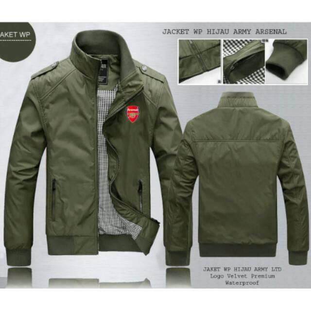 harga Best seller jaket hijau army arsenal waterproof pria cowok murah Tokopedia.com