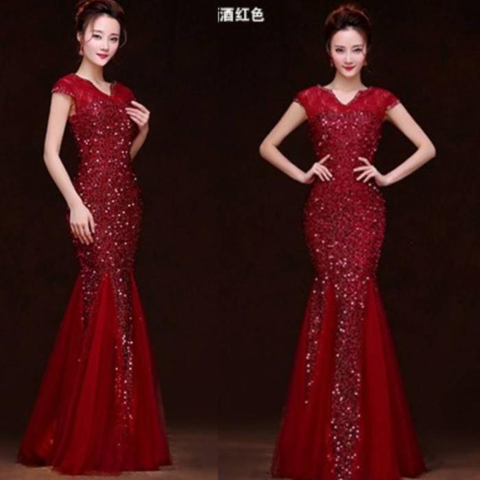 Jual Long Dress Pesta Baju Gaun Pesta Korean Fashion Dpy Fs6802 S79