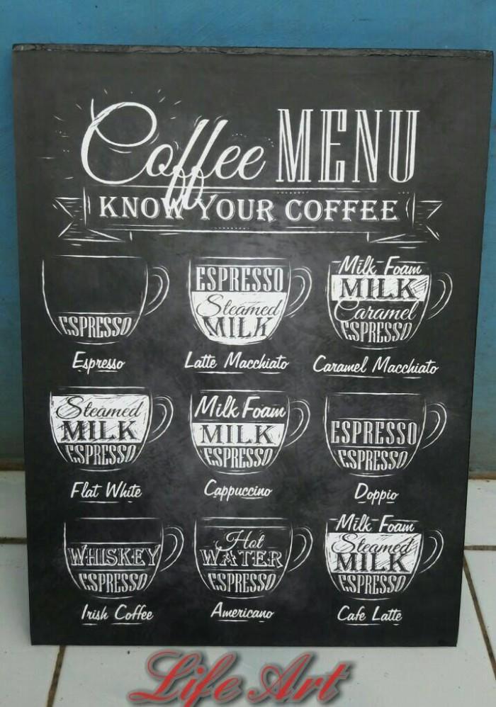 harga Wall decor bingkai/frame kayu 30x40 - know your coffee Tokopedia.com
