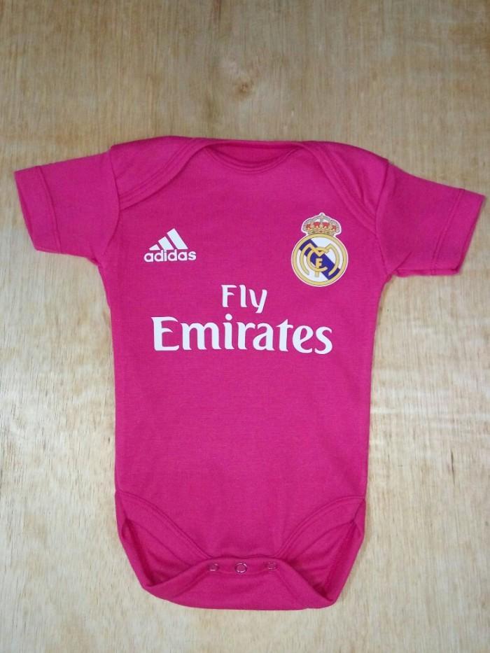 harga Baju Bola Bayi/baby Romper/baby Jumper Madrid Pink Tokopedia.com