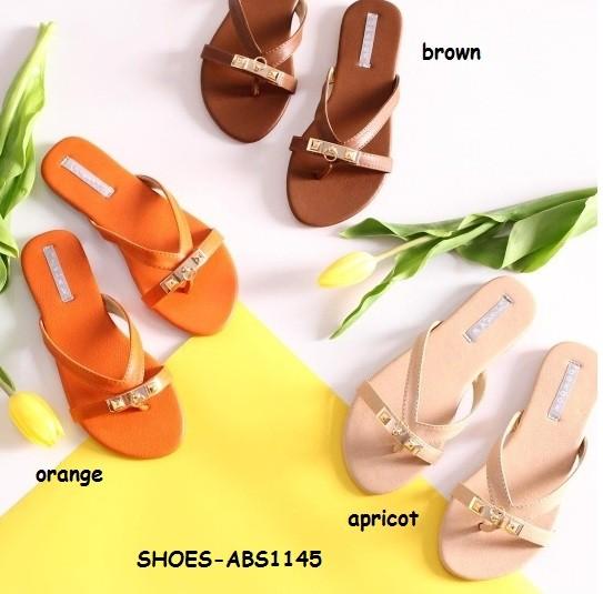 Sepatu sandal sendal jepit slip on flat shoes wanita korea import