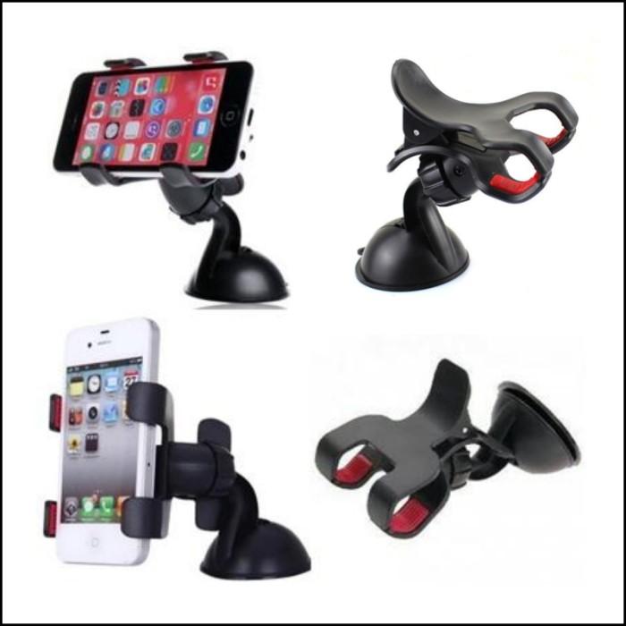... LUKIACC CAR HOLDER UNIVERSAL 360 ROTATING FOR MOBILE PHONE CAMERA GPS CARD HITAM Car Holder Smartphone