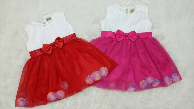 harga Baju bayi perempuan / baju gaun pesta / dress pesta bayi brokat pita Tokopedia.com
