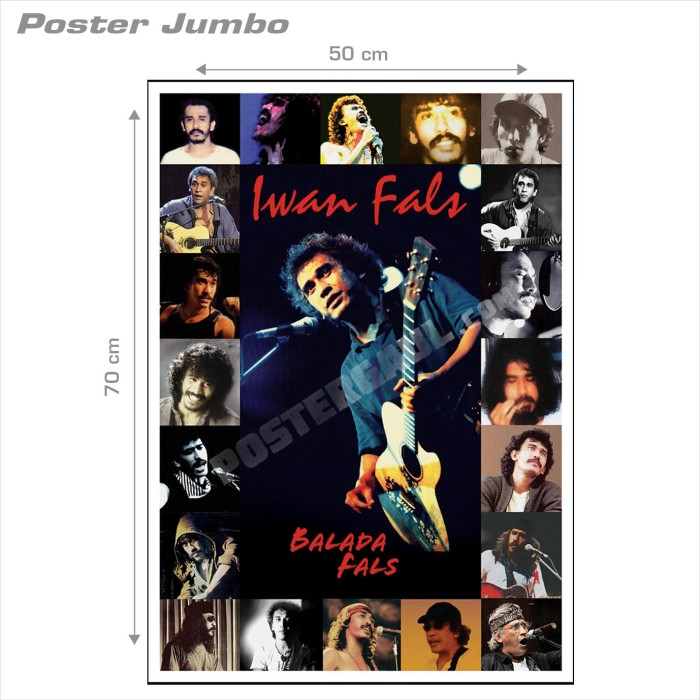 harga Poster iwan fals #19: balada fals - jumbo size 50 x 70 cm Tokopedia.com