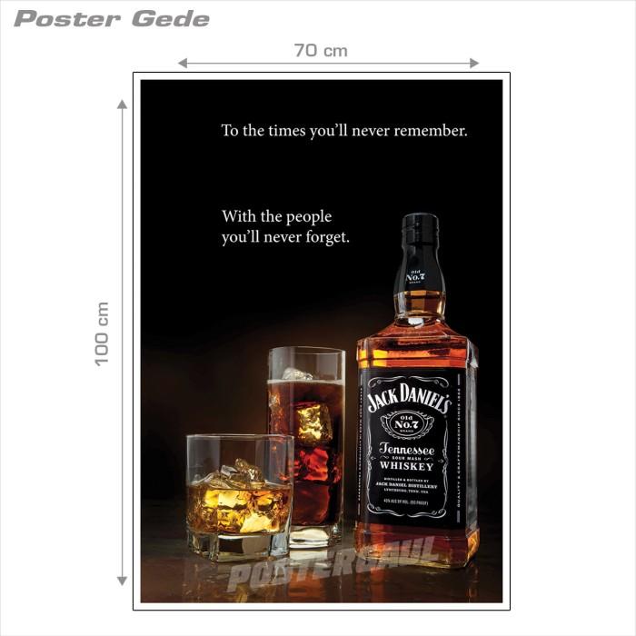 harga Poster jack daniels #038b - gede 70 x 100 cm Tokopedia.com