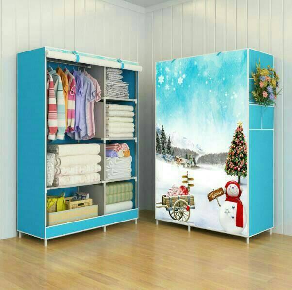 harga Snowman rak baju multifunction wardrobe rack lemari pakaian Tokopedia.com