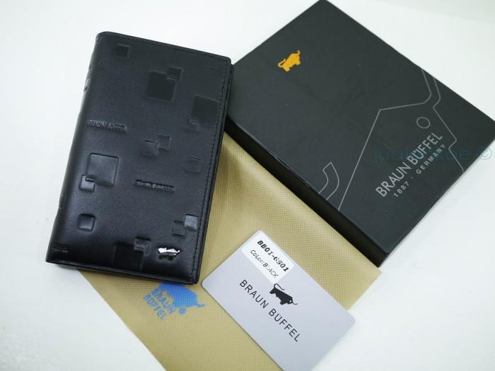 Dompet Kulit Pria Tanggung Braun Buffel Bb01-6501 Black