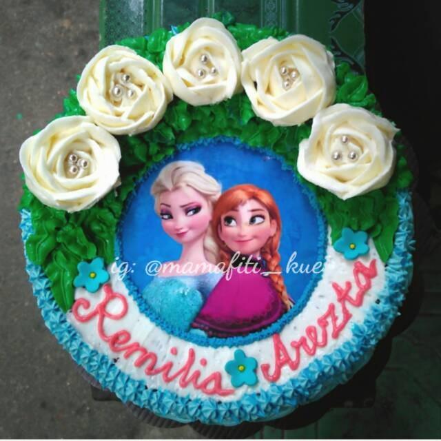 Jual Kue Ulang Tahun Frozen Flower Buttercream Jakarta Pusat Naufal Rock N Roll Tokopedia