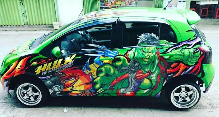 Jual Cutting Sticker 3d Hulk Vector Mobil Yaris Agya Avanza Honda