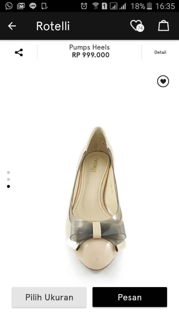 harga Sepatu rotelli  original sale Tokopedia.com