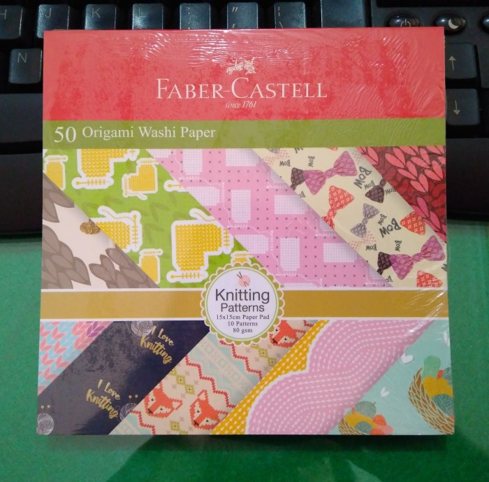 Kertas Lipat/Origami Motif Faber Castell (15 x 15 cm)