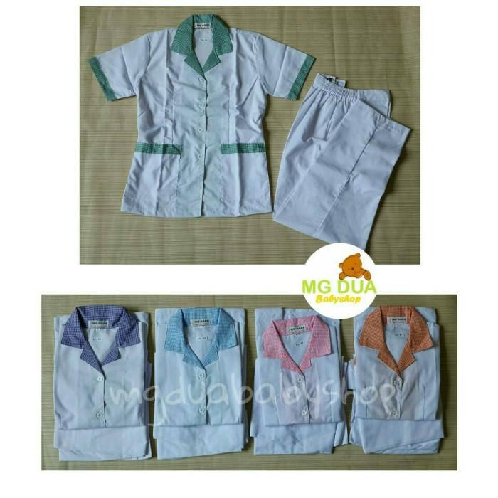 harga Baju seragam suster celana panjang putih s-m-l-xl Tokopedia.com
