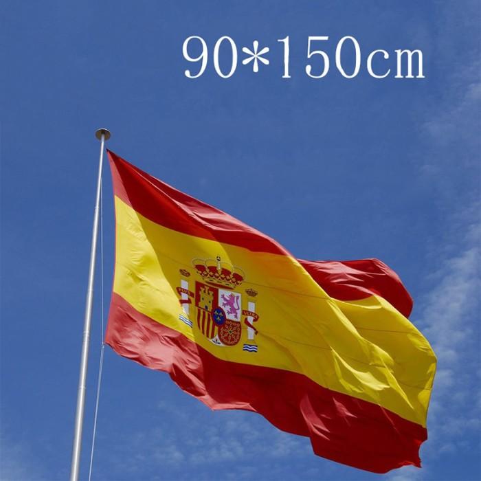 Jual Bendera Nasional Negara Spanish Spain Spanyol Flag ...