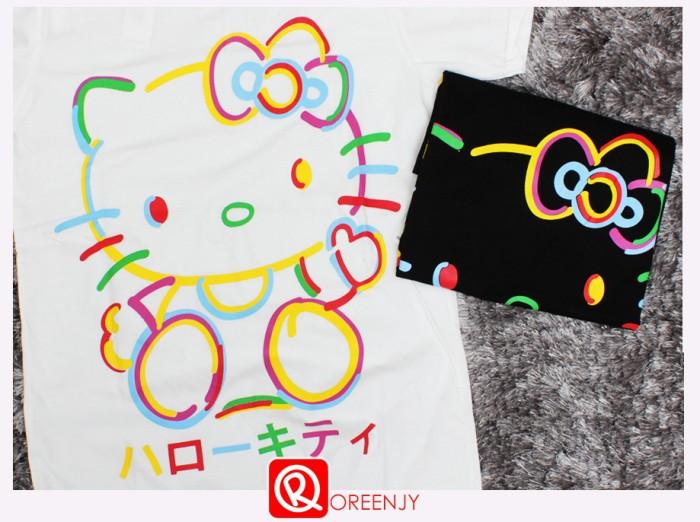 harga Hello kitty rainbow line t-l ld 86 cm-kaos kaus tee tshirt oreenjy Tokopedia.com