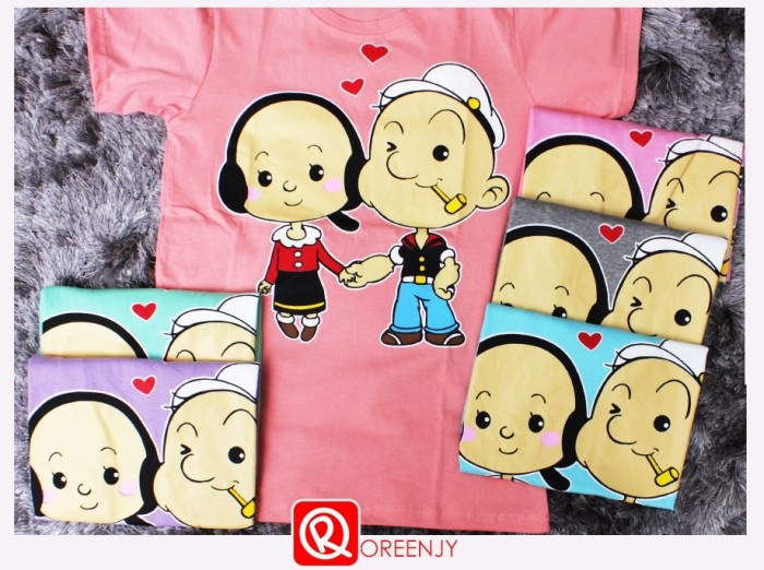 harga Popeye and olive t-l ld 86 cm-kaos kaus tee tshirt oreenjy Tokopedia.com