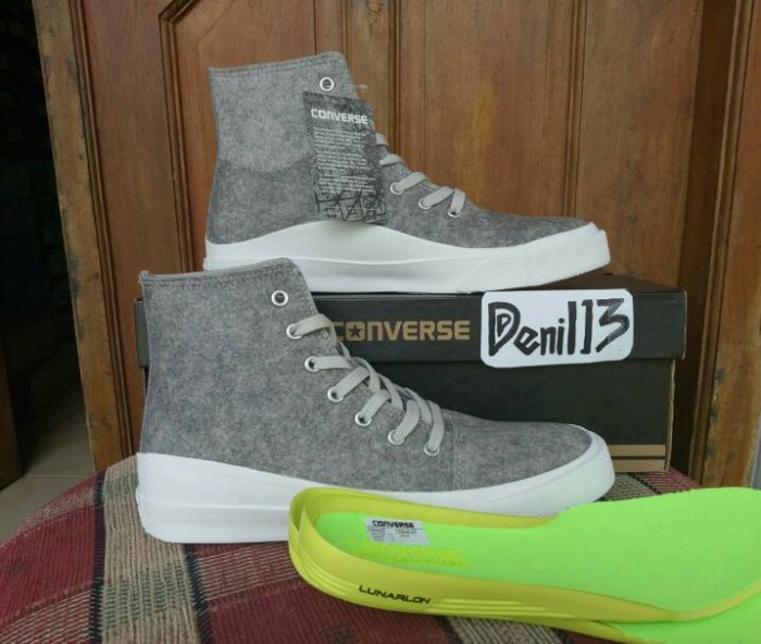 ORIGINAL Sepatu Casual Sneakers Converse All Star Quantum Hi Grey