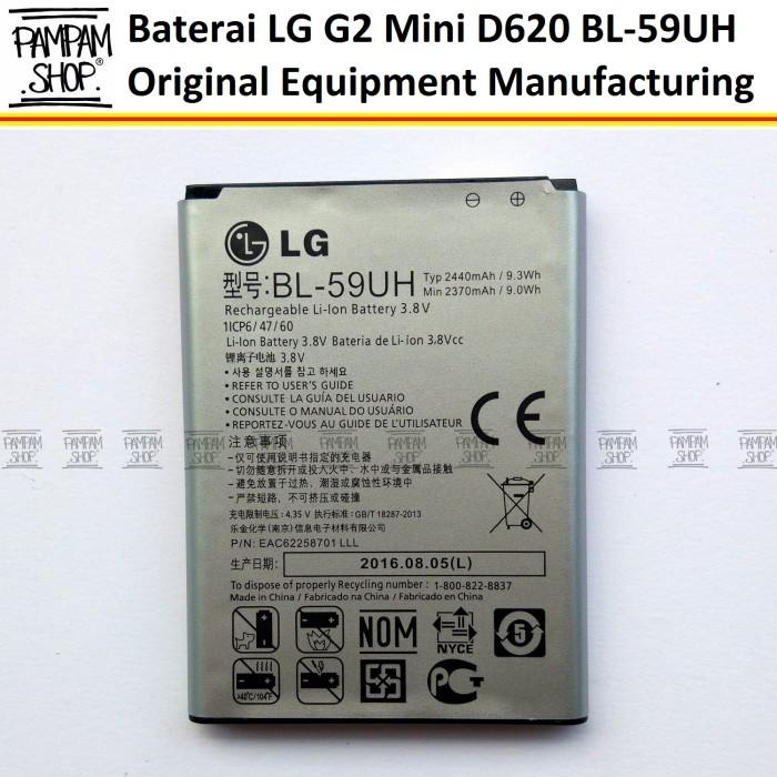harga Baterai handphone lg g2 mini d620 d620r f70 original bl-59uh bl59uh Tokopedia.com