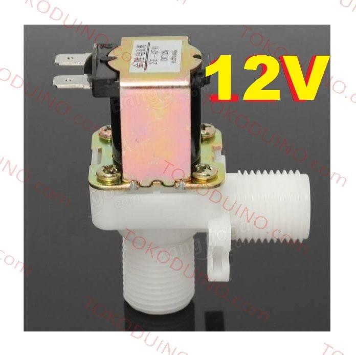 harga Water electric solenoid valve 12v nc in out 1/2  kran keran elektrik Tokopedia.com
