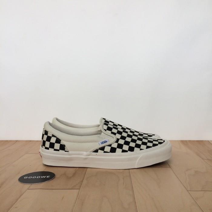 Jual Vans Vault OG Classic Slip On LX Checkerboard Black White - DKI ... 085f960e1