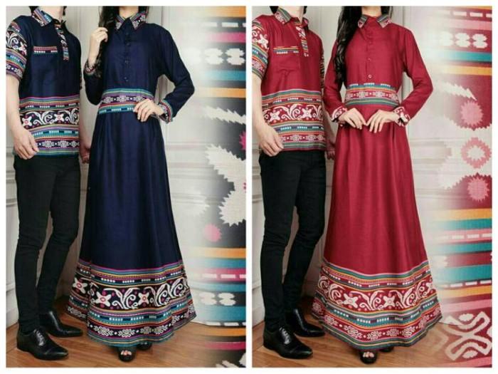 harga Xl jumbo baju couple pria wanita kemeja maxi gamis batik long dress  Tokopedia.com 1255a5daa2