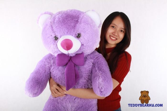 Jual Jual Boneka Teddy Bear Jumbo 1 Meter Warna Ungu Khas Bandung ... c87eab1ae2