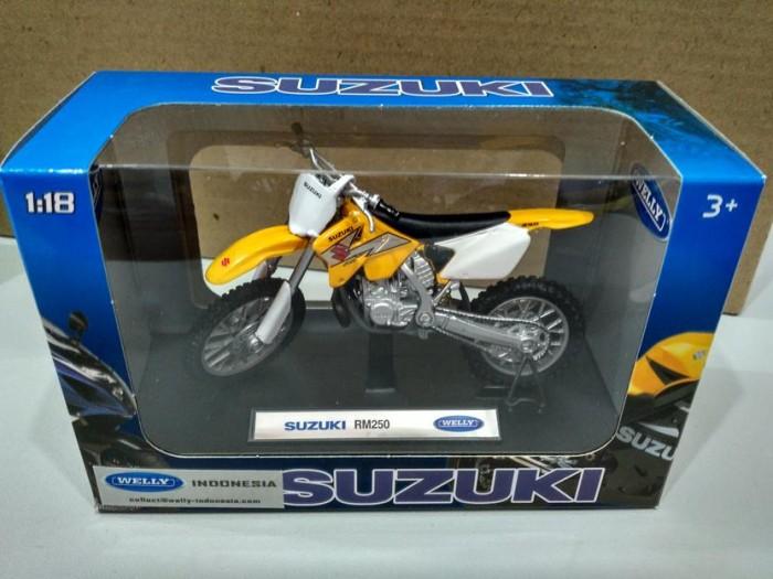 harga Diecast welly motor trail suzuki rm 250 1/18 Tokopedia.com