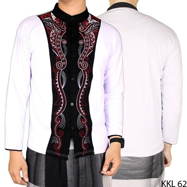 Baju koko pakaian muslim pria lengan panjang - putih