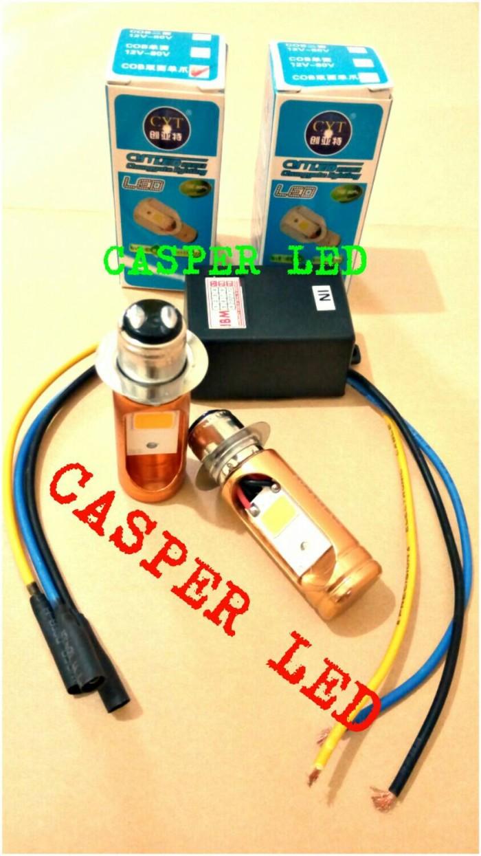 harga Paket hemat..!!! 2pcs lampu led h6 motor + 1 pcs converter dc Tokopedia.com