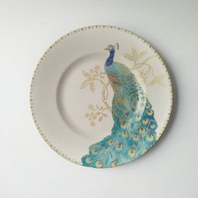 harga Piring Makan / Hias Sango Motif Peacock Garden Tokopedia.com