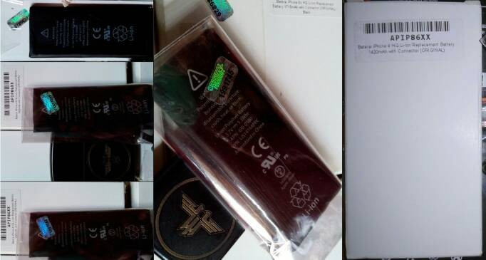 harga Battery baterai batre iphone 4/4s original 100% + bonus tools kit Tokopedia.com