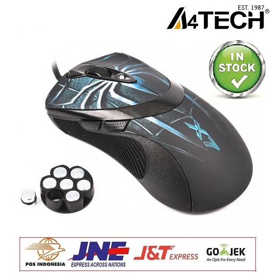 A4TECH X7 747H SPIDER MACRO GAMING MOUSE HITAM ✓