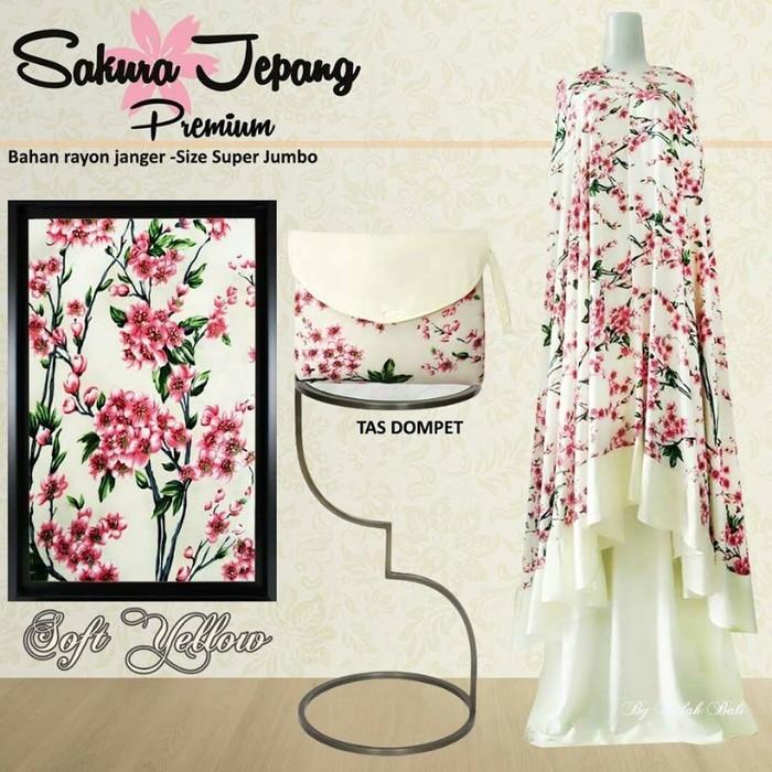 Mukena Bali Sakura Jepang Premium Super Jumbo.