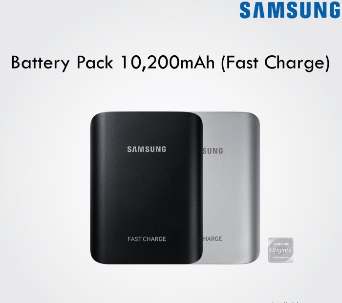 Powerbank Samsung Fast Charge 10200mAh Battery Pack 10200 mAh Original