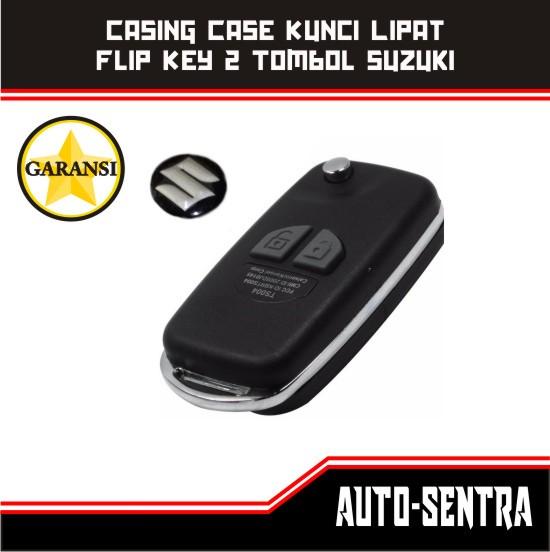 harga Casing Kunci Lipat / Flip Key 2 Tombol Suzuki Ertiga, Dll Bonus Logo Tokopedia.com
