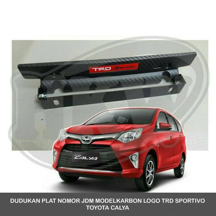 harga Dudukan plat nomor jdm carbon 3d trd calya Tokopedia.com