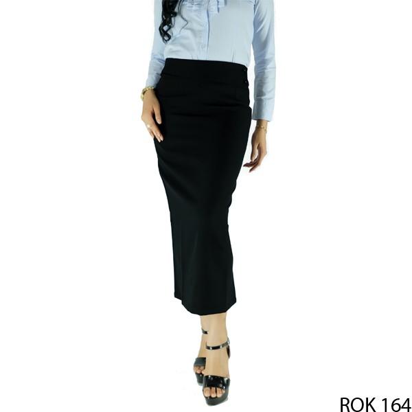 harga Rok wanita panjang katun hitam  rok 164 Tokopedia.com