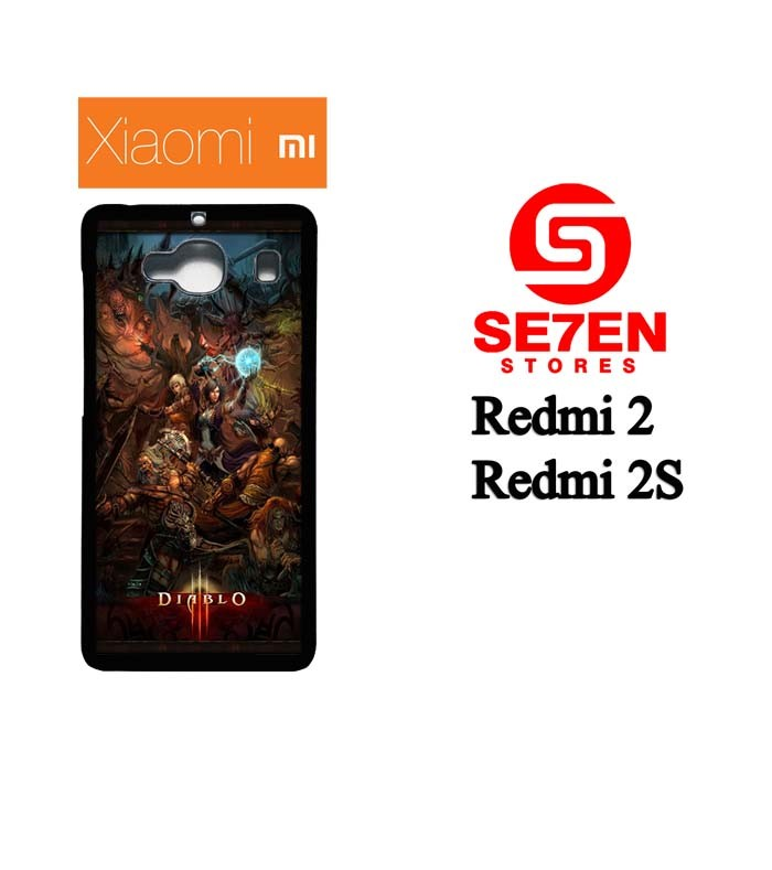 Casing HP Xiaomi Redmi 2, 2S Diablo 3 characters Custom Hardcase Cover