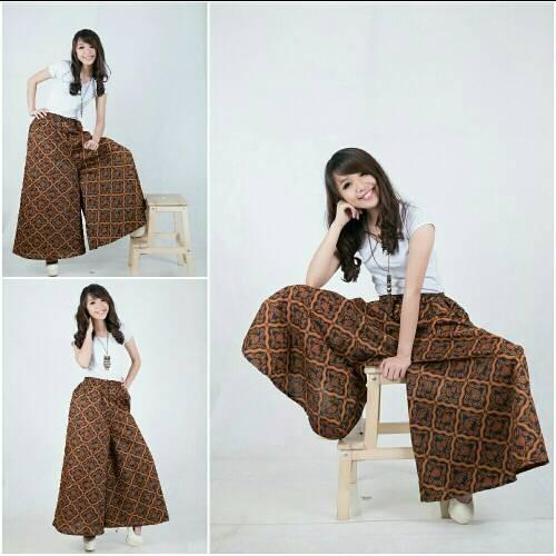 harga Celana kulot rok batik brownies long pant jumbo Tokopedia.com