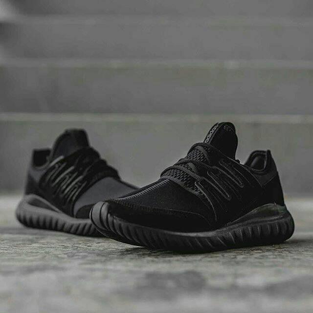 ... sepatu adidas tubular radial triple black original