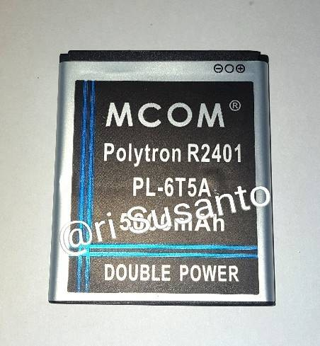 Baterai mcom for polytron r2401 rocket 2x pl-6t5a double power 5000mah